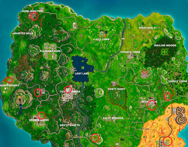 Карта баскетбольных площадок