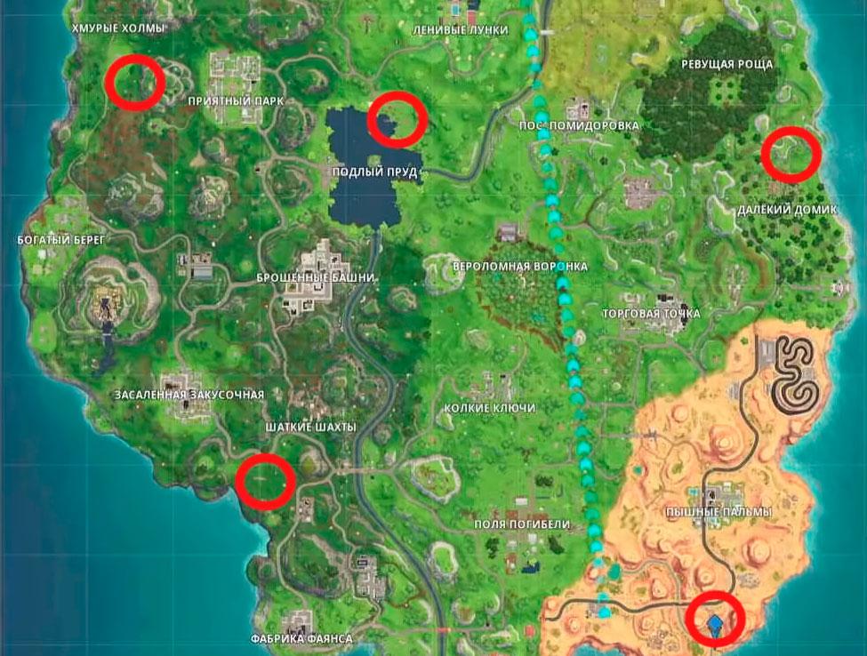 Карта мишеней fortnite