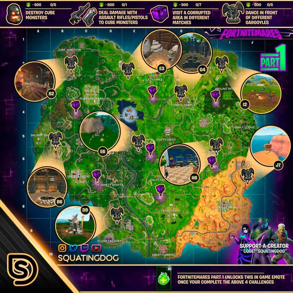 Кошмары карта