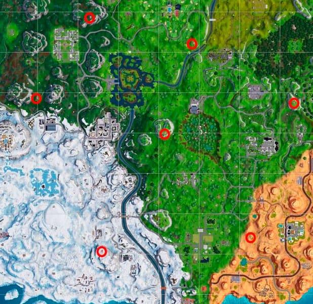 Форпосты Карта