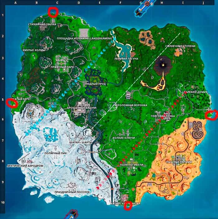Карта Север